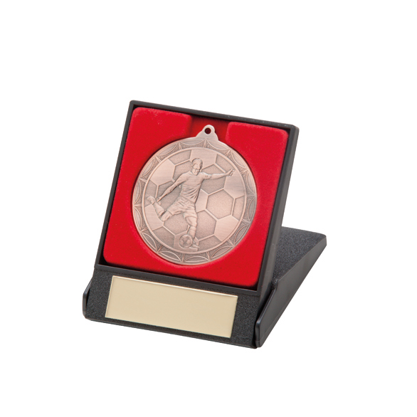Impulse Football Medal & Box Bronze 50mm