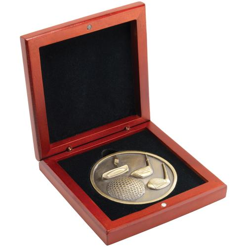 Rosewood Medal Box - (70mm Recess) 4.25in