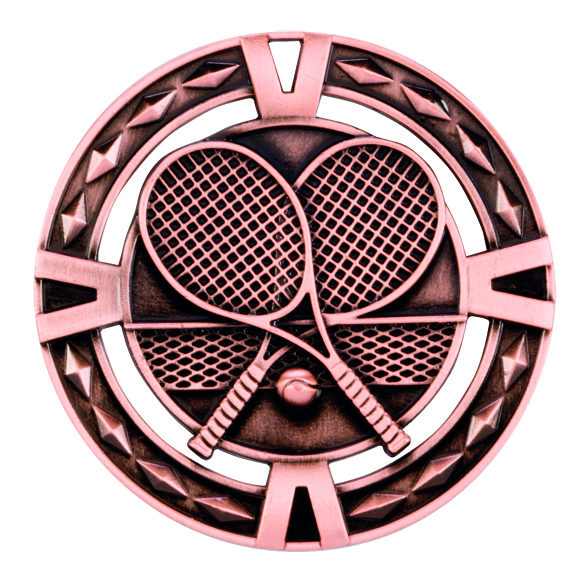 V-Tech Series Medal - Tennis Bronze 60mm