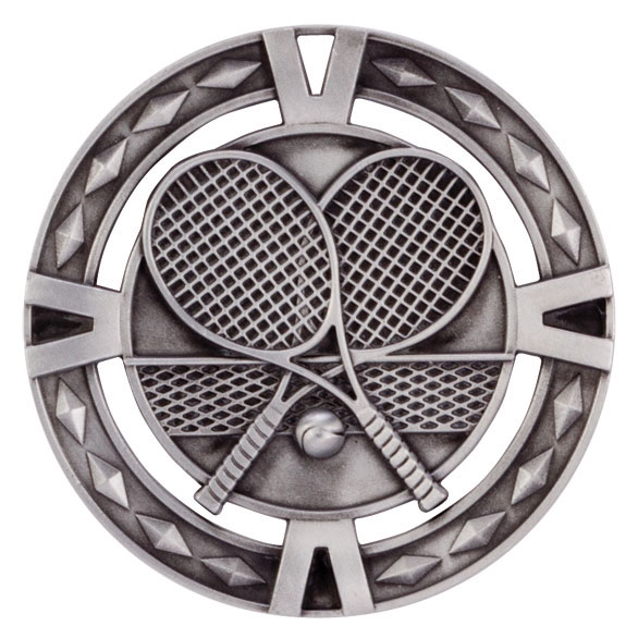V-Tech Series Medal - Tennis Silver 60mm