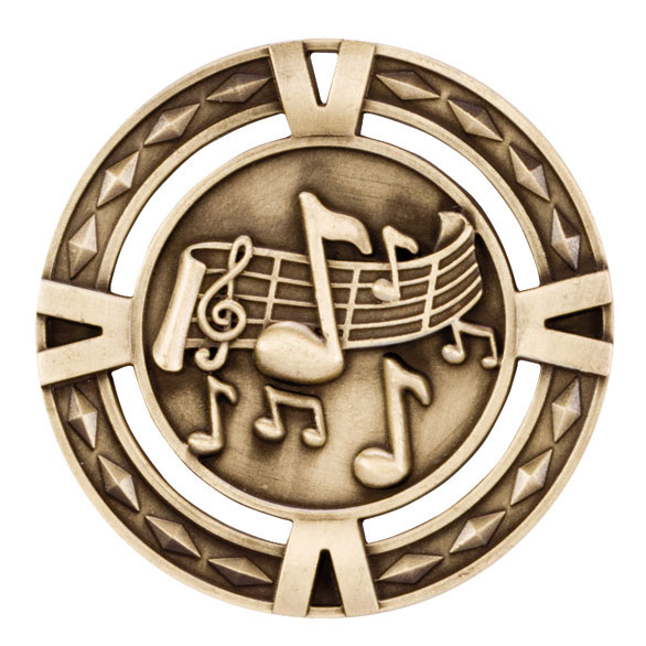 V-Tech Series Medal - Music Gold 60mm