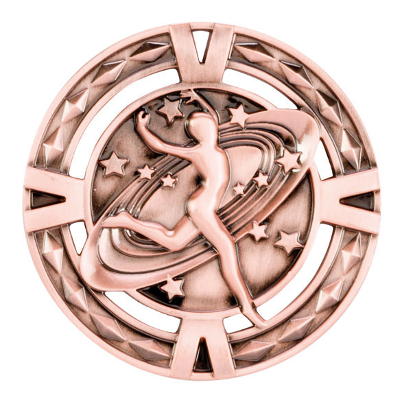V-Tech Series Medal - Dancing Bronze 60mm