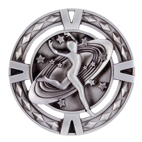 V-Tech Series Medal - Dancing Silver 60mm