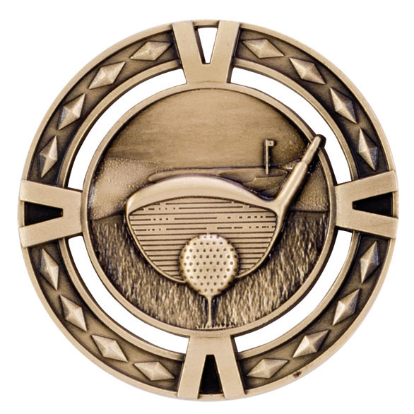 V-Tech Golf Medal Gold 60mm