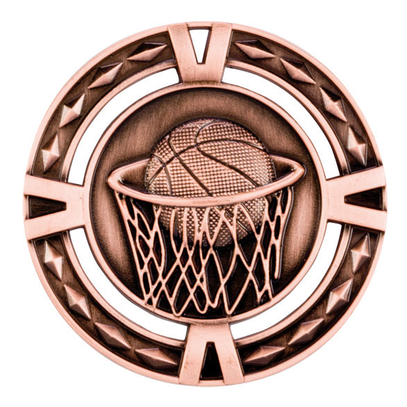 V-Tech Series Medal - Basketball Bronze 60mm