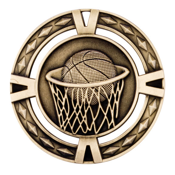 V-Tech Series Medal - Basketball Gold 60mm