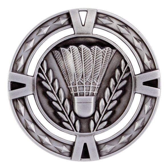 V-Tech Series Medal - Badminton Silver 60mm