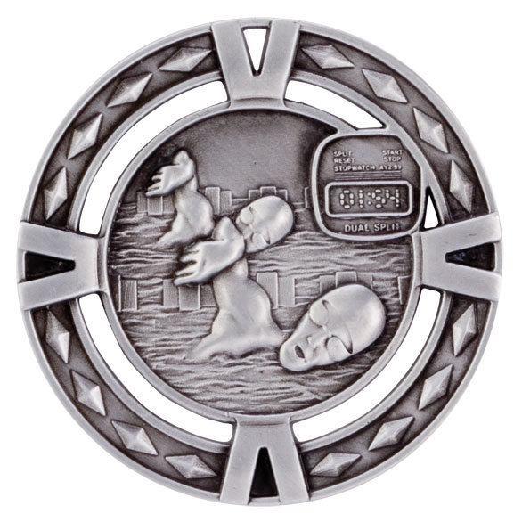 V-Tech Series Medal - Swimming Silver 60mm