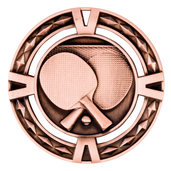 V-Tech Series Medal - Table Tennis Bronze 60mm