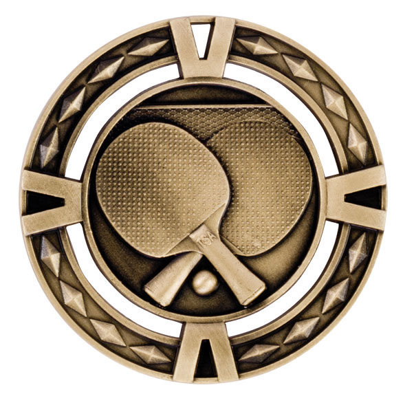 V-Tech Series Medal - Table Tennis Gold 60mm