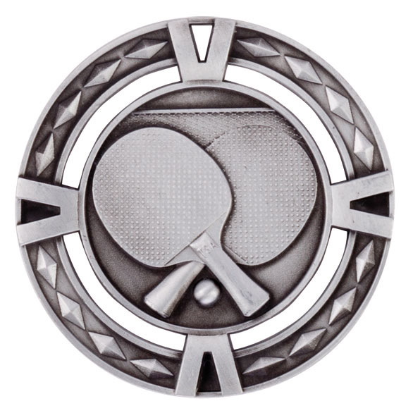 V-Tech Series Medal - Table Tennis Silver 60mm