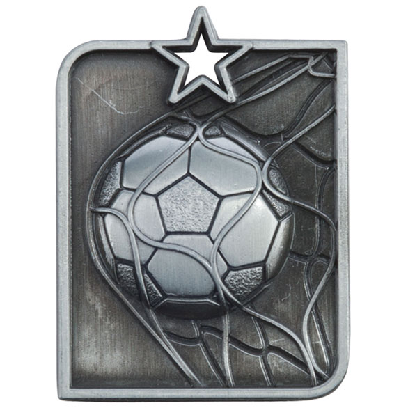 Centurion Star Series Football Medal Silver 53x40mm