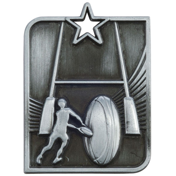 Centurion Star Series Rugby Medal Silver 53x40mm
