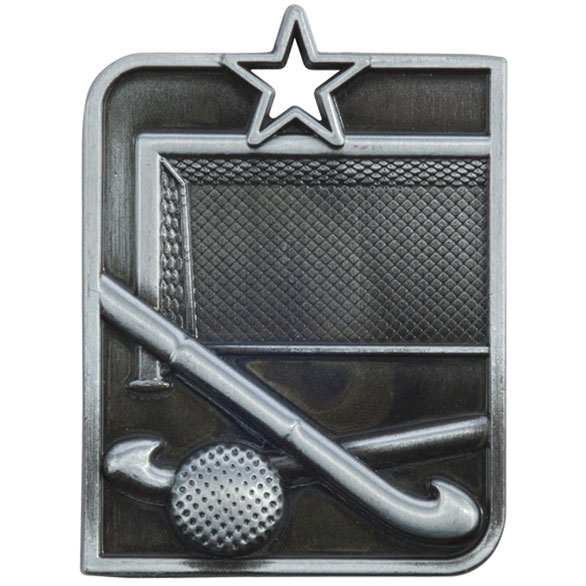 Centurion Star Series Hockey Medal Silver 53x40mm
