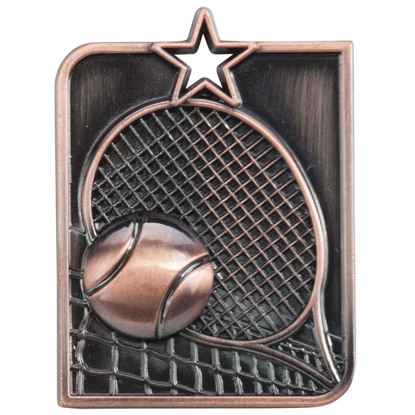 Centurion Star Series Tennis Medal Bronze 53x40mm