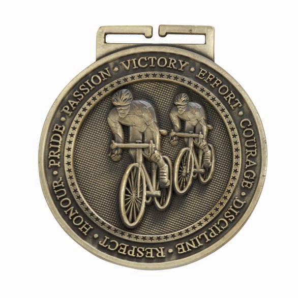 Olympia Cycling Medal Antique - Gold 60mm