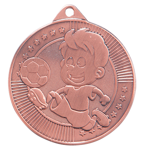 Little Champion Football Medal Bronze 45mm