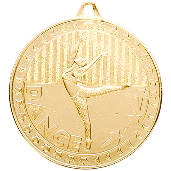Discovery Dance Medal Gold 50mm