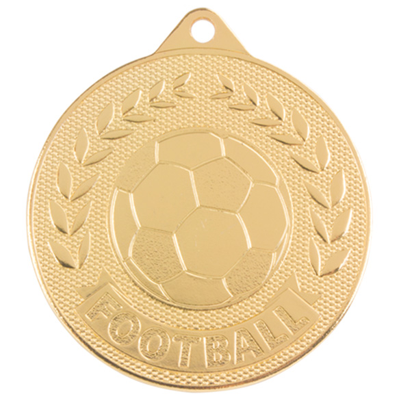 Discovery Football Medal Gold 50mm