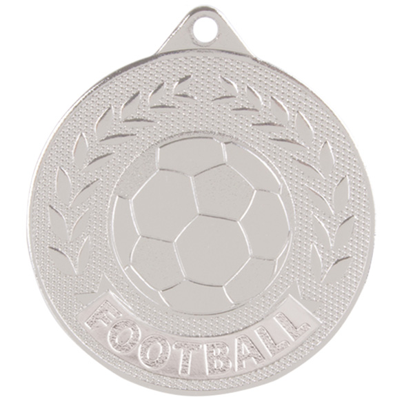 Discovery Football Medal Silver 50mm
