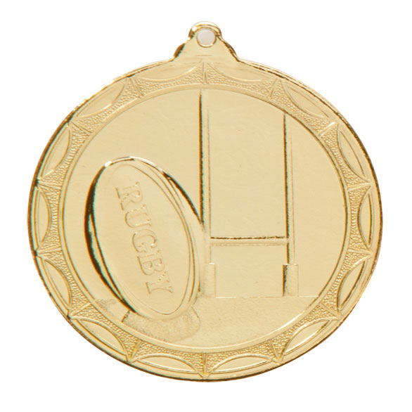 Economy Rugby Medal Gold 50mm