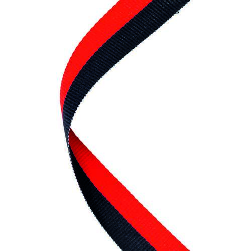 MEDAL RIBBON BLACK/RED