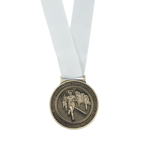 Olympia Medal Ribbon Stitched White 400 x 25mm