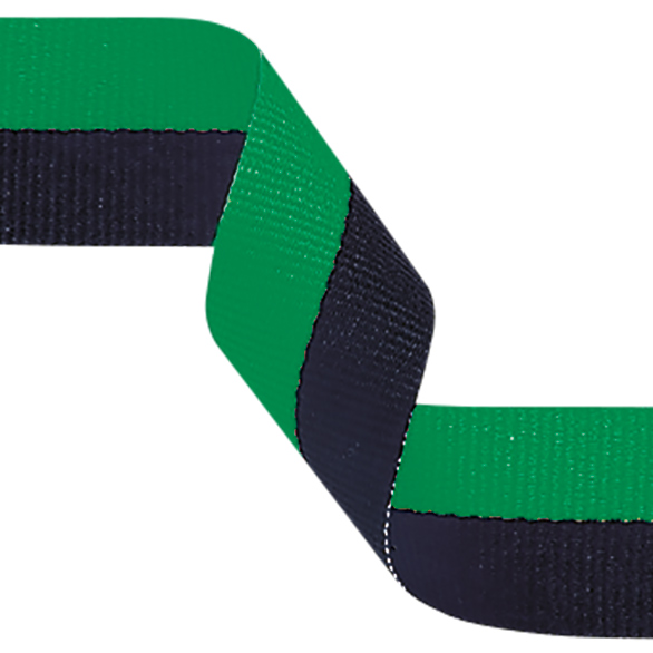 Medal Ribbon Green & Black 395x22mm