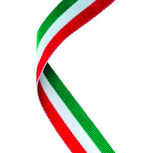 MEDAL RIBBON GREEN/WHITE/RED