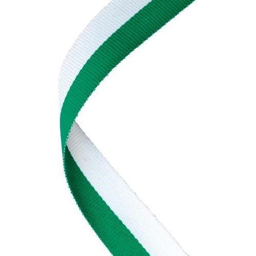 MEDAL RIBBON GREEN/WHITE