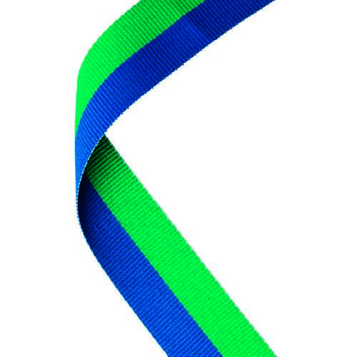 MEDAL RIBBON GREEN/BLUE