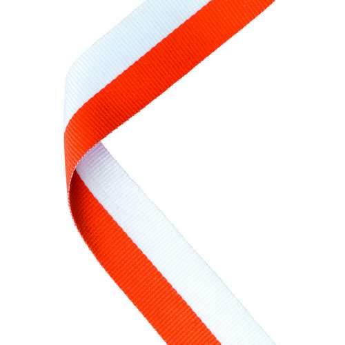 MEDAL RIBBON ORANGE/WHITE