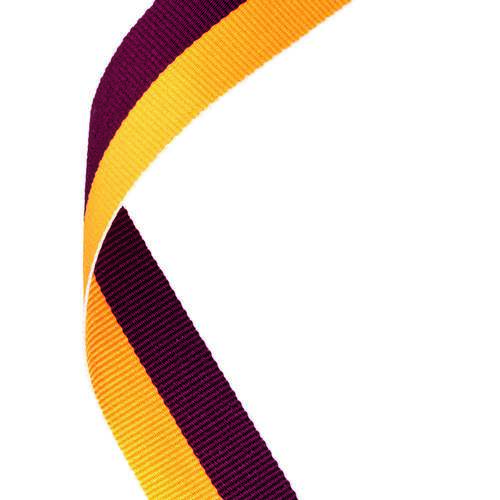 MEDAL RIBBON MAROON/GOLD
