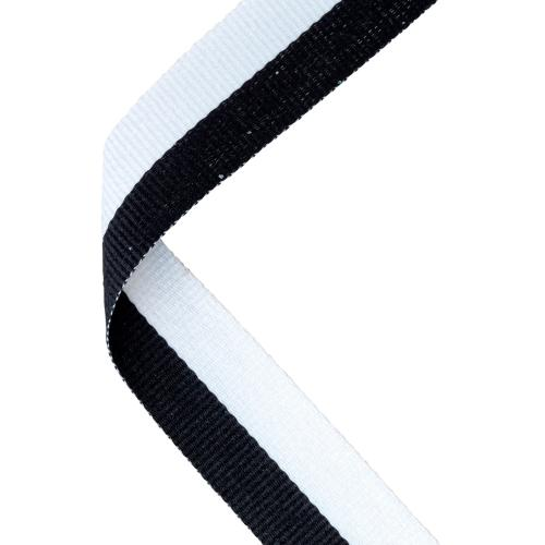 MEDAL RIBBON BLACK/WHITE