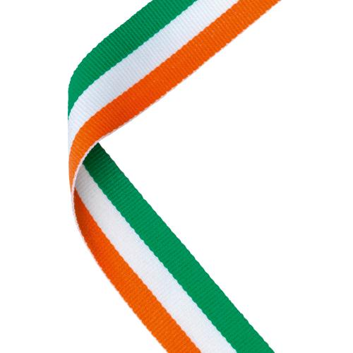 MEDAL RIBBON GREEN/WHITE/ORANGE