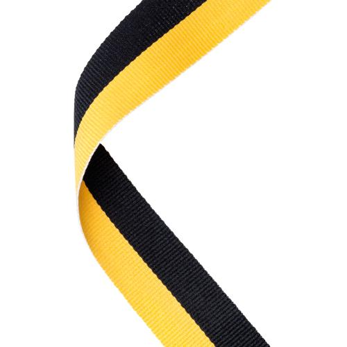 MEDAL RIBBON BLACK/YELLOW