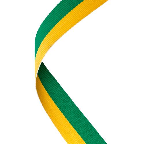 MEDAL RIBBON GREEN/YELLOW