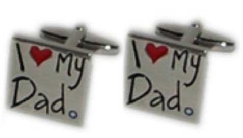 I Love My Dad Novelty Cufflinks