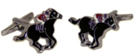 Black Horse Race Novelty Cufflinks