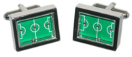 Football Pitch Novelty Cufflinks