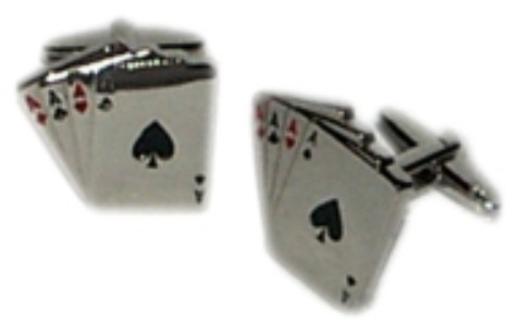 4 Ace Cards Novelty Cufflinks
