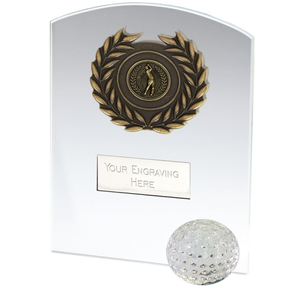 Strike Golf Jade Glass Trophy