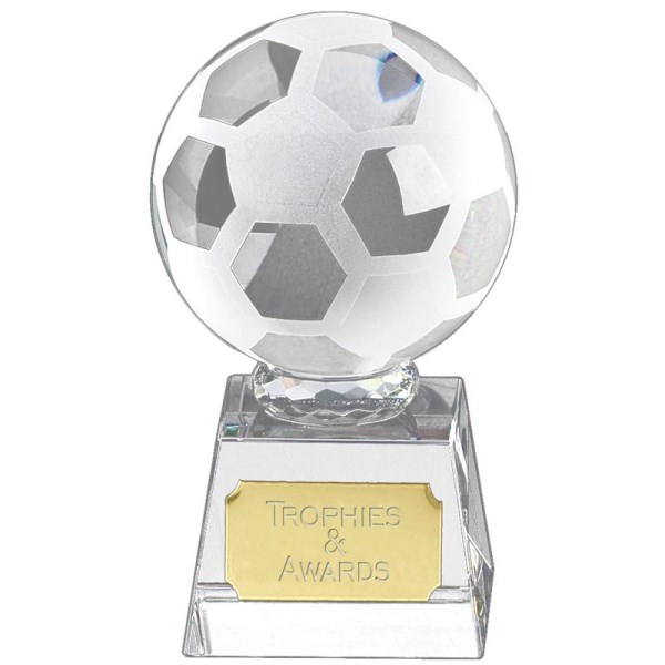 Victory Football Crystal Trophy