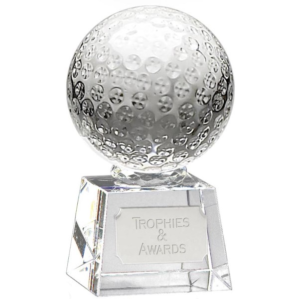 Victory Golf Ball Optical Crystal Award