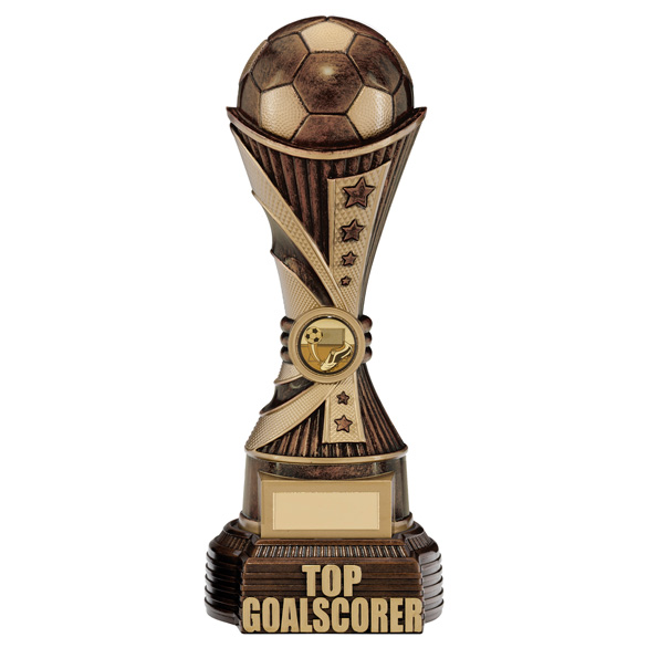 All Stars Top Goalscorer Award Antique Bronze & Gold 260mm