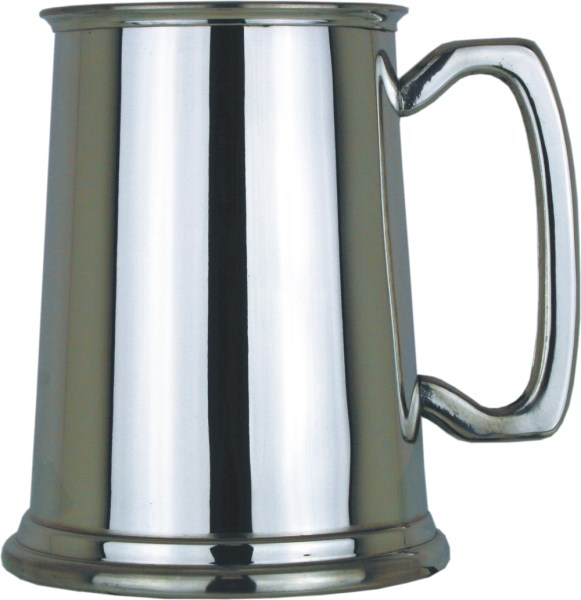 Plain Straight 1pt Pewter Tankard