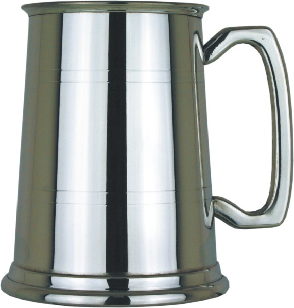 Two Line Straight 1pt Pewter Tankard