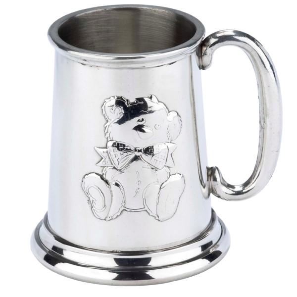 Teddy Stamp Straight Pewter Tankard