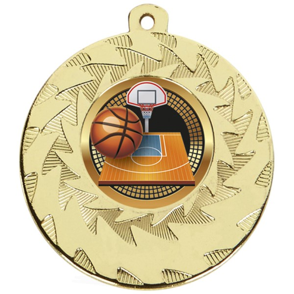 Prism Basketball Medal Gold 50mm