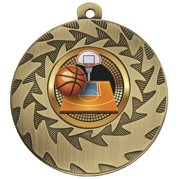 Prism Basketball Medal Bronze 50mm
